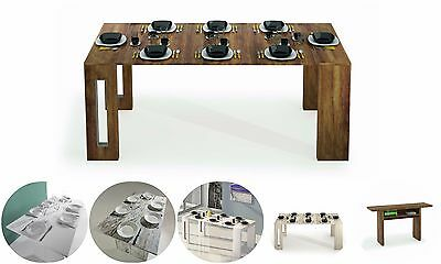Extending Dining Table Console Extendable Italian Oak Effect Wood Furniture Room