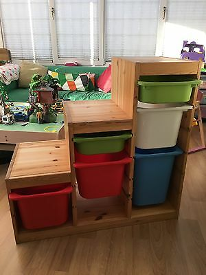 IKEA Trofast storage unit and boxes