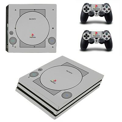 Sony PS4 PRO protective sticker skin set - PlayStation one Design