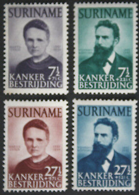 Suriname 1950 Cancer Research Fund Set SG379/82 MH/MM cat value £104