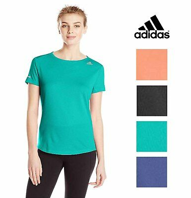 Adidas Women's Sequential Climate Athletic Run Tee Shirt Top