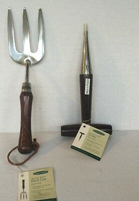 Smith and Hawken Garden Tools hand DIBBER and hand FORK NEW Made in Poland