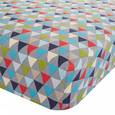 Catherine Lansfield Kids Geo Fitted Sheet, Multi