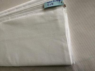 "81"" vint full muslin cotton sheet NU old store stock laundered 3x ready to use"