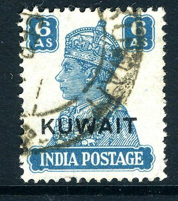 KUWAIT-1945 6a  Turquoise-Green Sg 60a FINE USED V14035