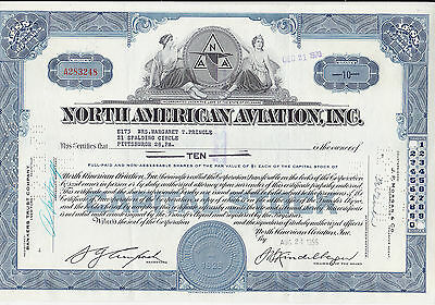 North American Aviation,Inc.shares v. 1956