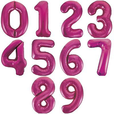 """34"""" Pink Glitz Giant Large Number Foil Balloons Party Decorations Age Birthday"""