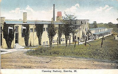 Eureka Illinois~Dickinson & Co Canning Factory~Later Libby's~Dirt Road~1908 PC