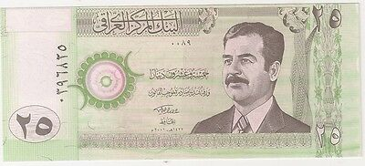 Iraq Iraqi 25 Dinar  Old Money Sudam Pictured Uncirculated