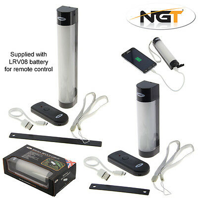NGT Remote Magnetic Bivvy Light System & 60hr Power Bank Mobile Phone Charging