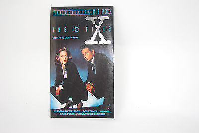 Vintage X Files Official Map Mulder Scully Gillian Anderson David Duchovny