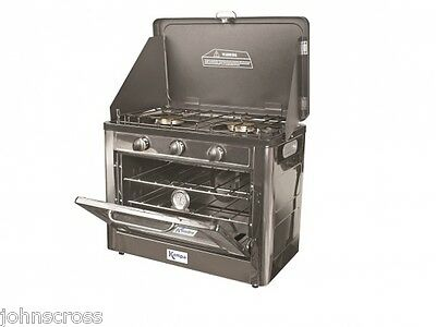 Kampa Roastmaster Camping Oven 2 Burner Hob And Oven Propane Butane Gas
