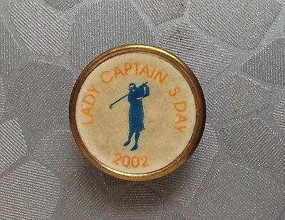 Golf Ball Marker - Lady Captain's Day 2002