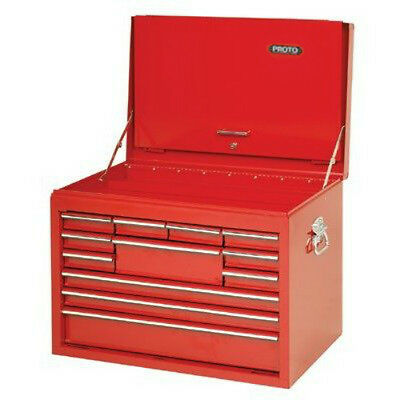 Stanley Proto Top Tool Chest Drop Front 12 Drawer 27 Inch Red J442719-12RD-D