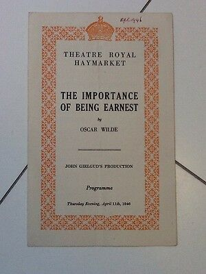 """Theatre Royal, Haymarket - """"The Importance Of Being Earnest"""" 1946 Edith Evans,"""