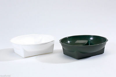 Florist Square Round Bowl / Dish Kit + Oasis Dry or Wet Foam + Pot tape