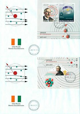 Ernest Rutherford Science Chemistry Nobel Prize Ivory Coast first day covers set