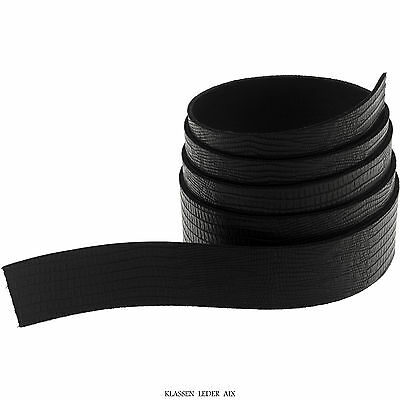 Leather straps 140 cm long Reptil Design 2,4 mm Thick Belt Real Cowhide GB1