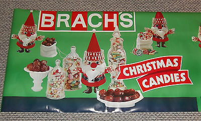 Vintage Brach's Christmas Candy Advertising Store Banner Display Poster