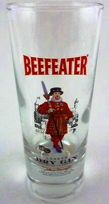 BEEFEATER Beef Eater DRY GIN Tall Shot Shooter Glass Collectible Distillery