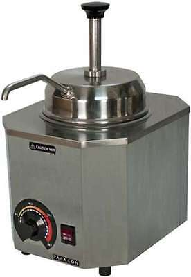 Commercial Deluxe Pump #10 Can Warmer Fudge Caramel Nacho Cheese Stainless Steel