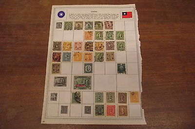 Antique Chinese Stamps - Used - China Postage Stamps & Chile on the back!