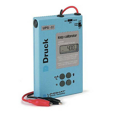 Druck UPS-II Smart Loop Calibrator, MA. Sources Simulates and Reads mA