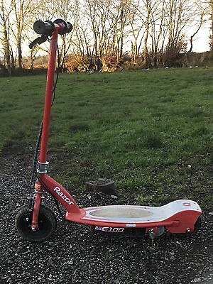 Razor E100 Electric Scooter,Charger Needed,skateboard Outdoor Toy Kids