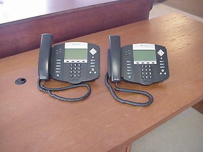 Lot of 2 Polycom SoundPoint IP550 Telephones 2201-12550-001
