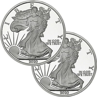 2017 Silver American Eagle Medallion by SilverTowne-5oz .999 Silver (2pc)