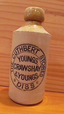 Vintage CUTHBERT CRAWSHAY & YOUNGS GINGER BEER STONE WARE BOTTLE