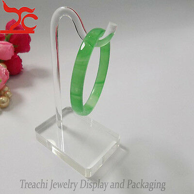 Acrylic Jewelry Display Stand Bracelet Chain Stand Rack Bangle Holder Clear
