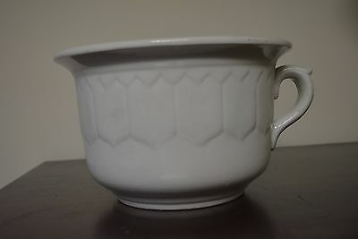 Chamber Commode Pot  Patterned Vintage  Ironstone