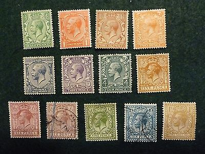 """1924-26 Kgv """"set"""" Of 13  Sg418/429 Mostly Mint, Some U/mint And 2 Used, See Text"""