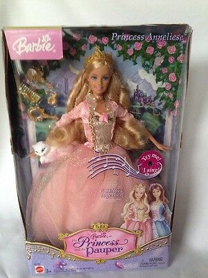 The Princess And The Pauper Barbie New Anneliese 2004 B5768 Mattel Doll