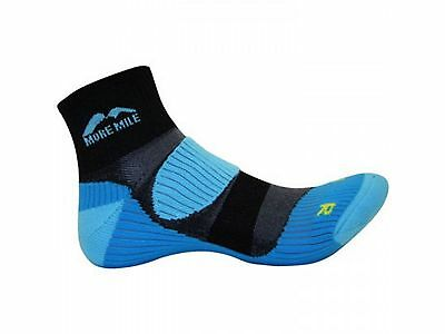 2 Pairs More Mile Mens Womens London Running / Gym / Sports Cushioned Socks