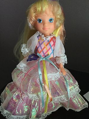 Vtg Lady Lovely Locks Doll Excellent Shiny Hair With Beautiful Dress Neck Issue