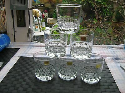 6 luminarc large tumblers for whisky