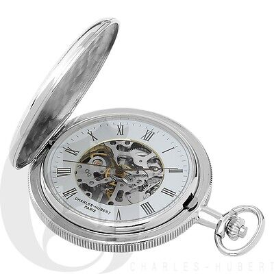 Charles-Hubert Two-Tone Hunter Case Mechanical Pocket Watch - #3860