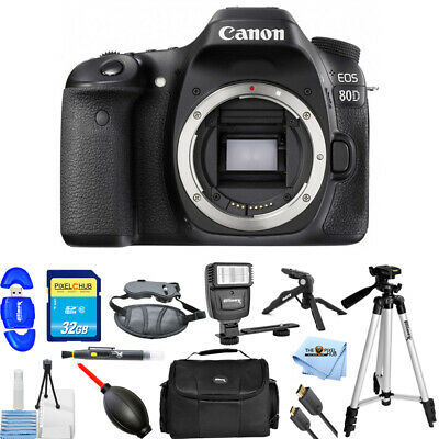 Canon EOS 80D 24.2MP DSLR Camera (Body Only) #1263C004 MEGA BUNDLE