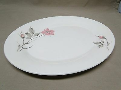 Knowles China DAWN ROSE by Kalla Oval Serving Platter