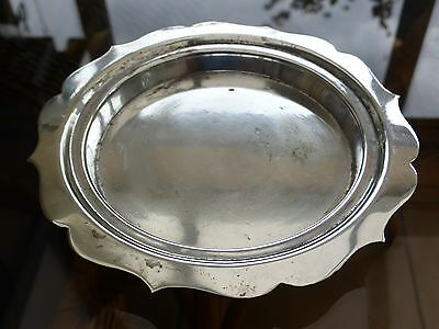 Slack & Barlow Vintage Silver Plated Shaped Edge Dish    #140915030/032