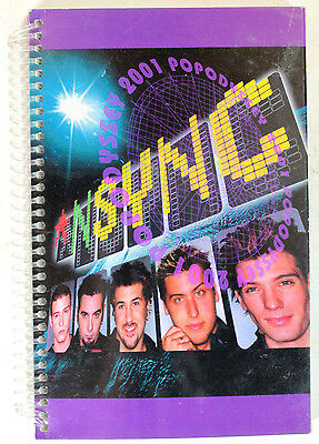 NSYNC Popodyssey 2001 Tour United States Itinerary Book with Detailed Tour Info