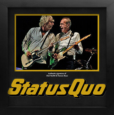 Rick Parfitt and Francis Rossi Signed Status Quo Photo Display
