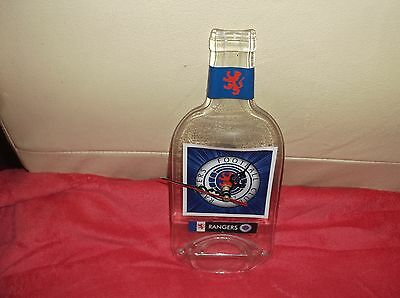 Glasgow Rangers Football Club Squashed Glass Bottle Wall Clock Working