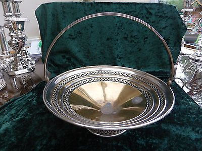 Vintage Silver Plated Raised Base Pierce-Work Fruit Bowl  #270916042/045