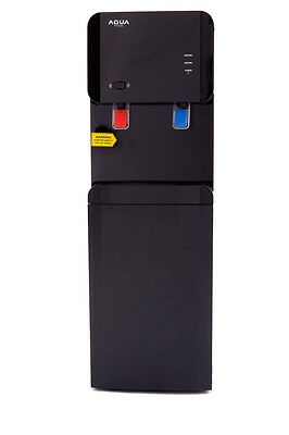 Stylish Black Bottled Hot And Cold Water Cooler Dispenser Child Safety Feature