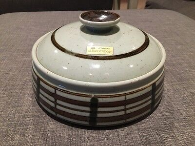 New Otagiri Stoneware Ovenproof Covered Casserole Baker With Lid Brown Speckled