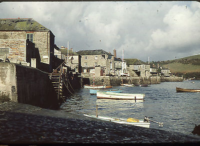 35mm SLIDES :  MARITIME : SALCOMBE HARBOUR WITH FISHING FLEET & OTHERS 1950's