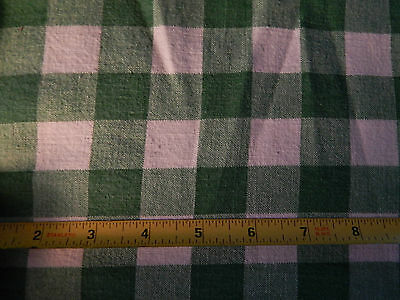 Vintage Printed Muslin Fabric Feed Sack Opened  35x41  Bright Green White